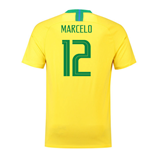 2018-2019 Brazil Home Nike Football Shirt (Marcelo 12)