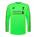 2018-2019 Liverpool Away Long Sleeve Goalkeeper Shirt (Green)
