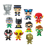 DC Comics 3D Rubber Keychain Series 2 Display (24)