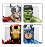 Marvel Plates 4-Pack Avengers Faces