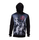 ASSASSIN'S CREED Male Live by the Creed Core Full Length Zipped Hoodie, Medium, Black
