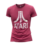 ATARI Male Chest Logo T-Shirt, Extra Large, Red