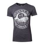 GUINNESS Male Heritage Intaglio Raised Printed T-Shirt, Medium, Grey