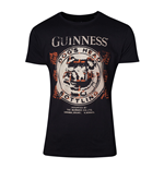 GUINNESS Male Dog's Head Bottling T-Shirt, Small, Black