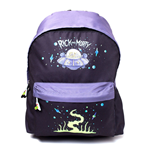 RICK AND MORTY Spaceship Print Backpack , Black/Purple