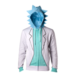 RICK AND MORTY Male Rick Suit Full Length Zipped Hoodie, Large, Multi-colour