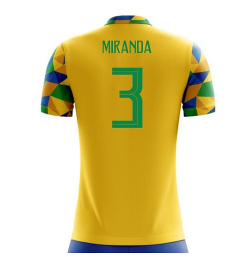 2018-2019 Brazil Home Concept Football Shirt (Miranda 3) for only C ...