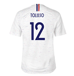 2018-2019 France Away Nike Football Shirt (Tolisso 12)