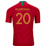 2018-2019 Portugal Home Nike Vapor Match Shirt (Quaresma 20)