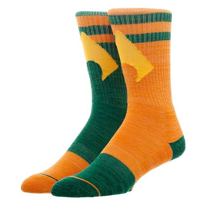 AQUAMAN Superhero Flipped Colors Men's Crew Socks