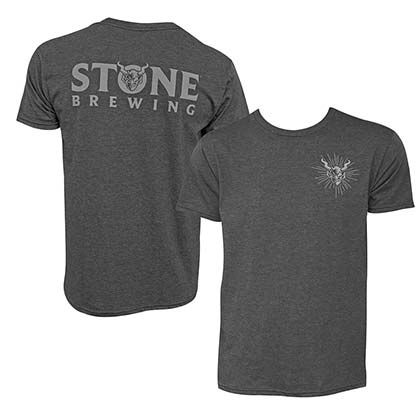 Stone Brewing Devil Logo Heather Gray Men's T Shirt