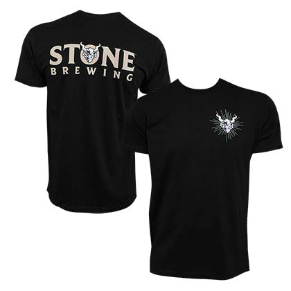 Stone Brewing Devil Logo Black Men's TShirt