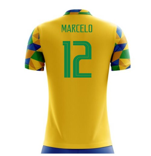 2018-2019 Brazil Home Concept Football Shirt (Marcelo 12) for only C ...