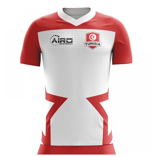 2018-2019 Tunisia Home Concept Football Shirt (Kids) for only C ...