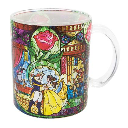 BEAUTY AND THE BEAST Stained Glass Disney Mug