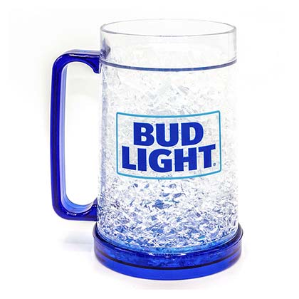 BUD LIGHT 16oz Freezer Gel Beer Mug Stein