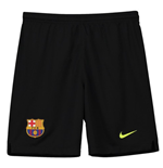 2018-2019 Barcelona Home Nike Goalkeeper Shorts (Black) - Kids