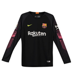 2018-2019 Barcelona Home Nike Goalkeeper Shirt (Black) - Kids