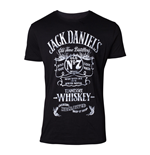 JACK DANIEL'S Male Old Advertising T-Shirt, Small, Black