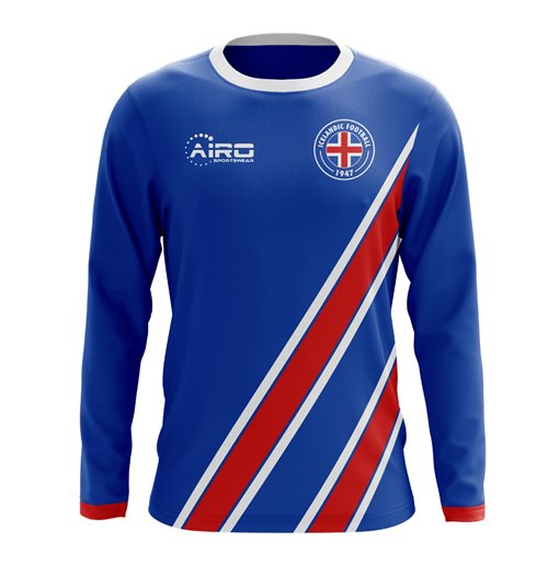 2018-2019 Iceland Long Sleeve Home Concept Football Shirt for only C ...