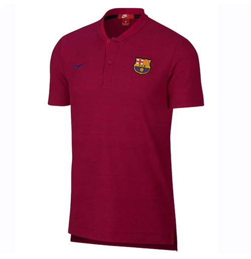 2018-2019 Barcelona Nike Authentic Polo Shirt (Noble Red)