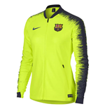 2018-2019 Barcelona Nike Authentic Franchise Jacket (Volt) - Womens