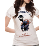 Superman - 80TH Anniversary - Women Fitted T-shirt White