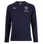 2018-2019 Arsenal Puma Casual Performance Sweat Top (Peacot)