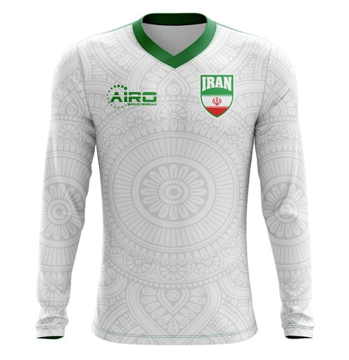 2018-2019 Iran Long Sleeve Home Concept Football Shirt for only C ...