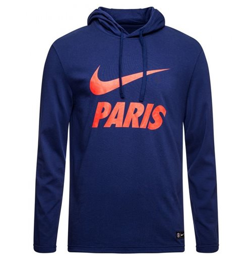 2018-2019 PSG Nike Core Hooded Top (Navy)