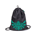 The Legend of Zelda Drawstring Bag - Zelda Crest Rubber Printed Black