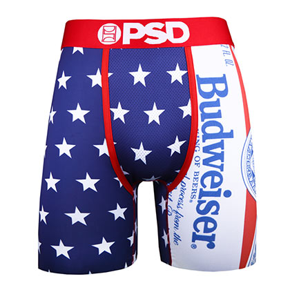 BUDWEISER Stars USA American Flag Men's Boxer Briefs