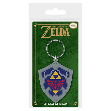 LEGEND OF ZELDA Shield Nintendo Rubber Keychain