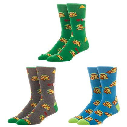 LEGEND OF ZELDA Pixels Men's Sock Set 3 Pack