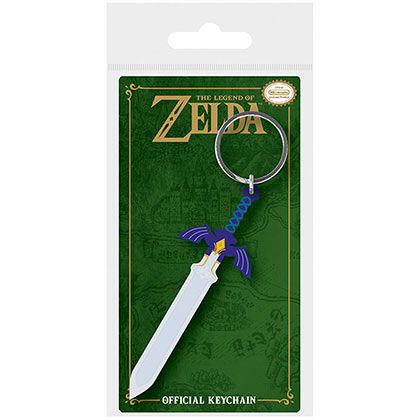 LEGEND OF ZELDA Master Sword Nintendo Rubber Keychain