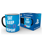 PlayStation Heat Change Mug Eat Sleep Repeat