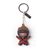 Marvel Superheroes Keychain - Peter Quill Character Rubber 3D Multicolor