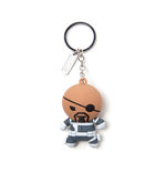 Marvel Superheroes Keychain - Nick Fury Kawaii Rubber 3D Black