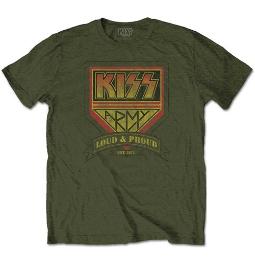 KISS Men's Tee: Loud & Proud