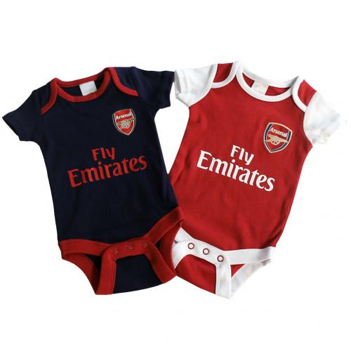 Arsenal F.C. 2 Pack Bodysuit 3/6 mths NR