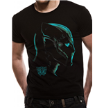 Black Panther - Neon Face - Unisex T-shirt Black