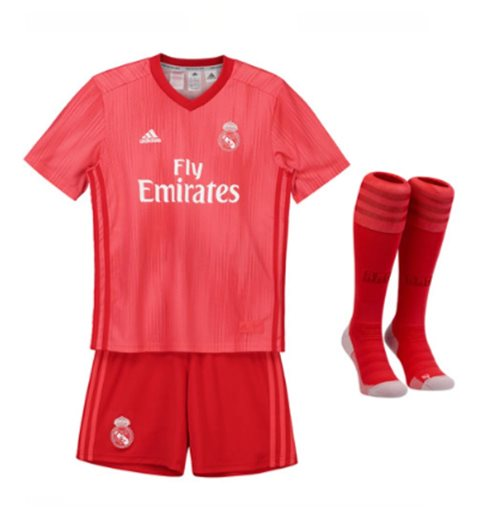 super popular 49962 a8700 2018-2019 Real Madrid Adidas Third Full Kit (Kids)