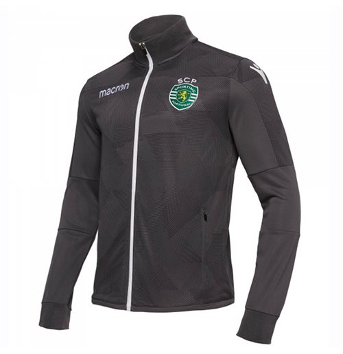 2018-2019 Sporting Lisbon Macron Anthem Jacket (Grey)