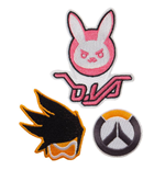 Overwatch Patches 3-Pack Logo, Bunny & Tracer