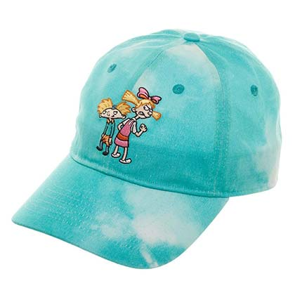 Hey Arnold NICKELODEON Helga Blue Tie Dye Dad Hat