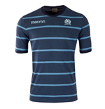 2018-2019 Scotland Macron Rugby Travel Polycotton T-Shirt (Blue)