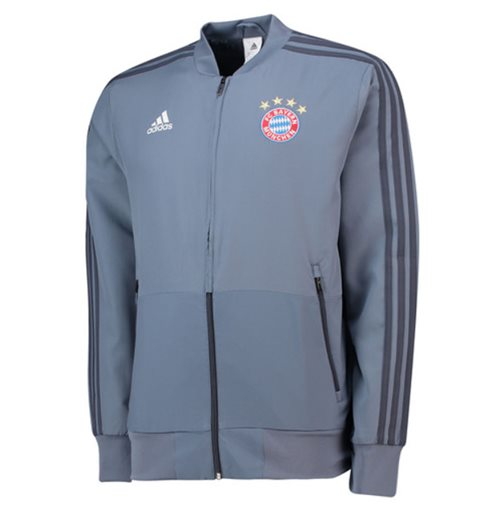 2018-2019 Bayern Munich Adidas UCL Presentation Jacket (Grey)