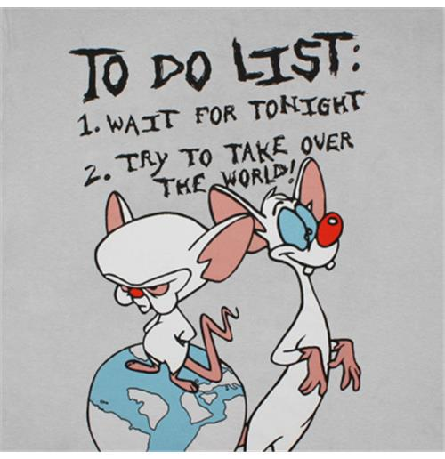 Animaniacs pinky and brain to do list t shirt for only c 2107 at animaniacs pinky and brain to do list t shirt thecheapjerseys Images