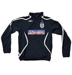 2010-11 England Half Zip Training Drill Top (Navy) - Kids