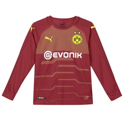 timeless design f6a12 baa8f 2018-2019 Borussia Dortmund Away Goalkeeper Shirt Pomegranate (Kids)